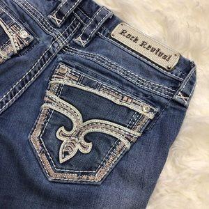COPY - ROCK REVIVAL jeans Boot JAYLYN  Rhinestones